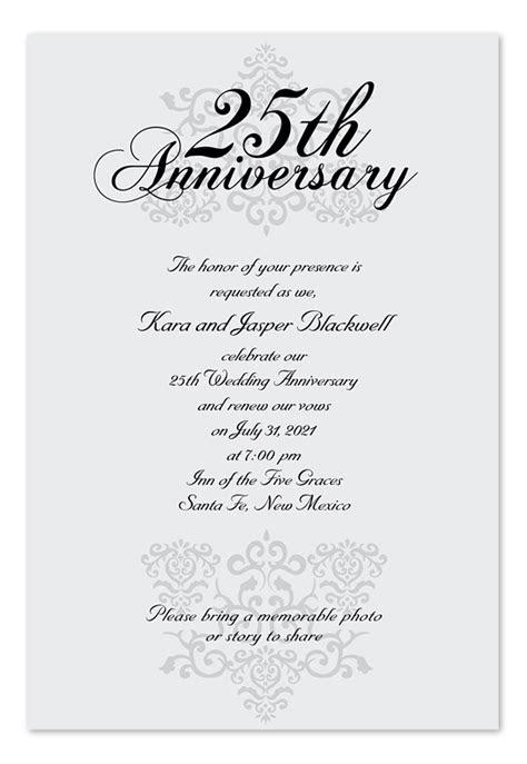 elegant anniversary anniversary invitations