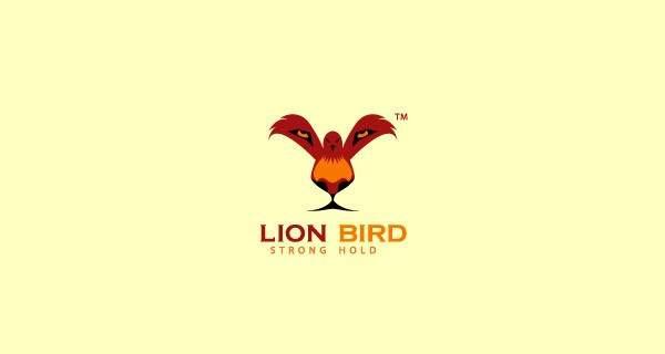 Un pájaro que forma el rostro de un león.