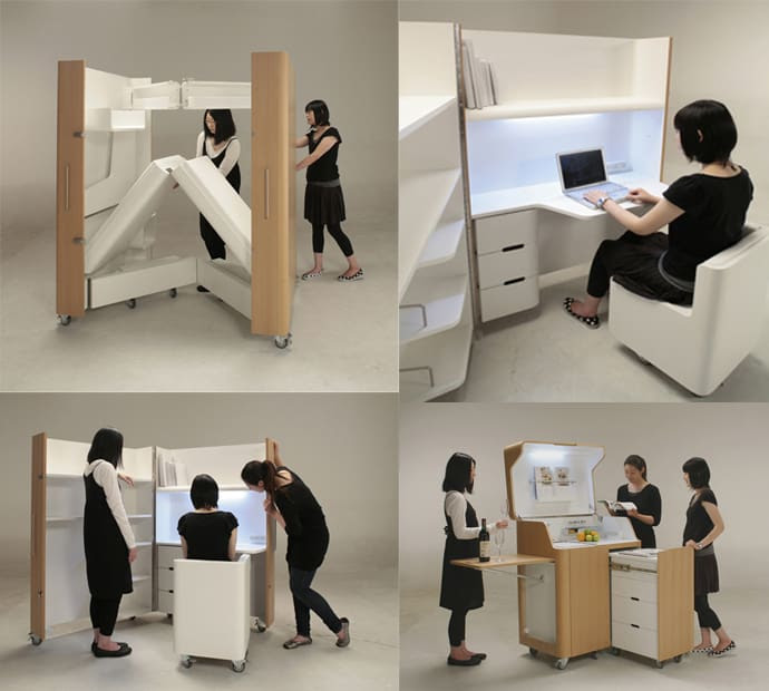 Space Saving Furniture: Compact Kitchen, Guest Room And Office ...