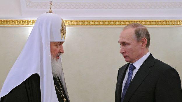 El patriarca Kirill y el presidente de Rusia, Vladimir Putin