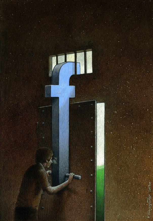 Satirical Illustrations Addiction to Technology2