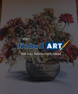 Karlee Patton Flower Vase Still Life Colored Pencil Still Life Drawings Nobullart Art Gallery