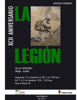 Cartel promocional de la exposición en Almería