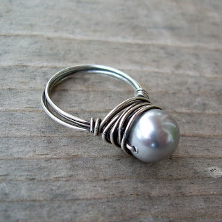 vegan pearl ring