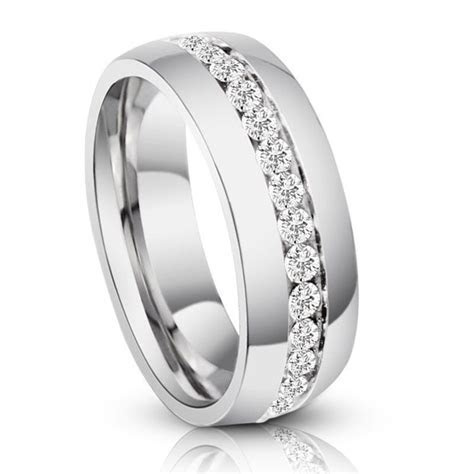 Men's Genuine Titanium Eternity Diamond Anniversary