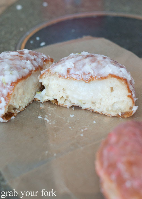 coconut lime doughseed filled doughnut donut at doughnut plant nyc new york lower east side