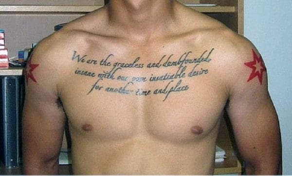 40 Quote Tattoos For Men Expression Of Words Written In Ink