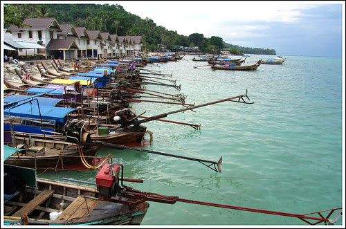Longtail boats at Phi Phi Don