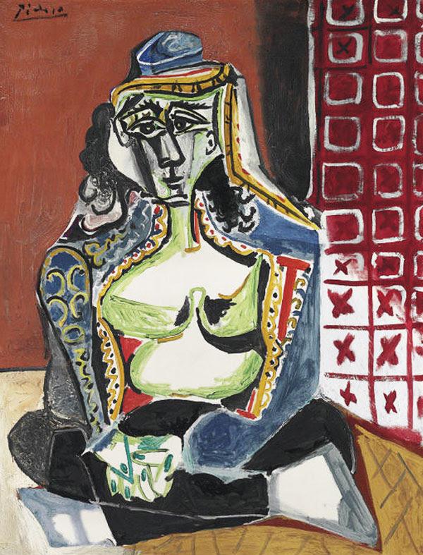 Pablo Picasso Femme accroupie au costume turc (Jacqueline)