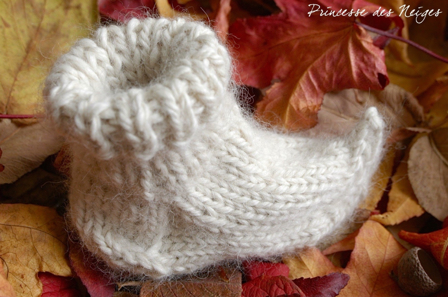 Alpaca booties from my collection A little forest Elf.