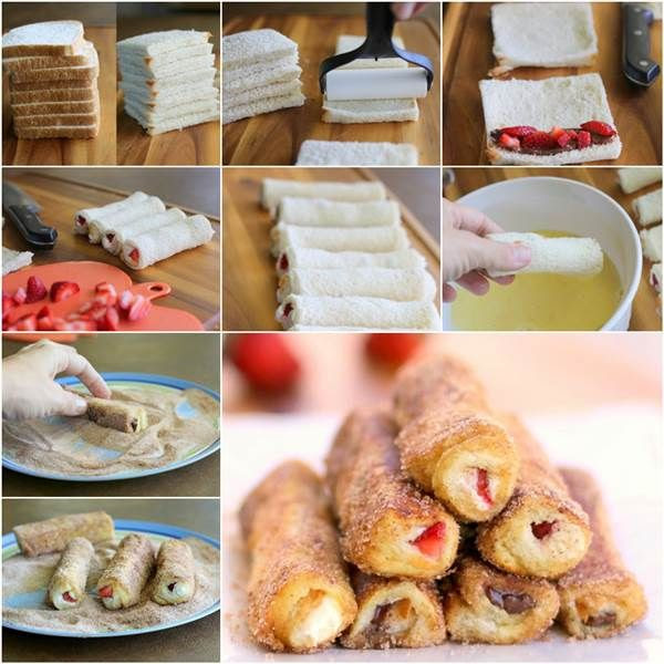 How to DIY Delicious French Toast Roll-up | iCreativeIdeas.com Like Us on Facebook ==> https://www.facebook.com/icreativeideas