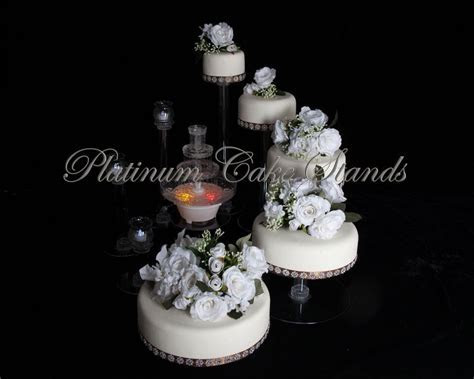5 TIER CASCADE WEDDING CAKE STAND WITH FOUNTAIN (STYLE