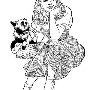 Beautiful Wizard Of Oz Coloring Pages