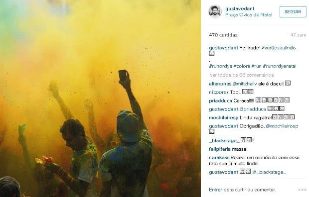 Foto postada no Instagram que participa de exposição inédita em Brasília (Foto: Instagram/Reprodução)