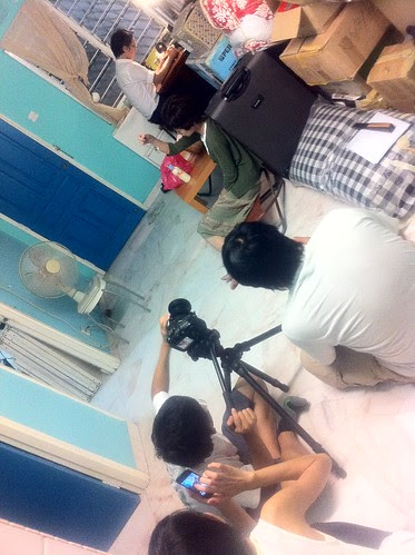 Shooting an apartment scene with Ley Teng and Berg Lee
