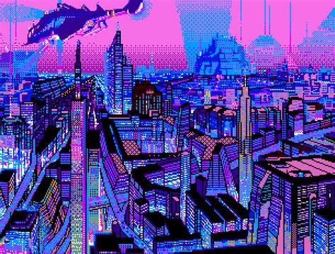 pixel art art inspiration pinterest  cyberpunk