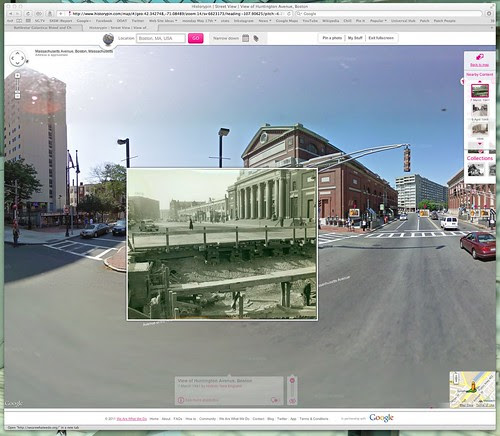 Historypin | Street View | View of Huntington Avenue, Boston by stevegarfield
