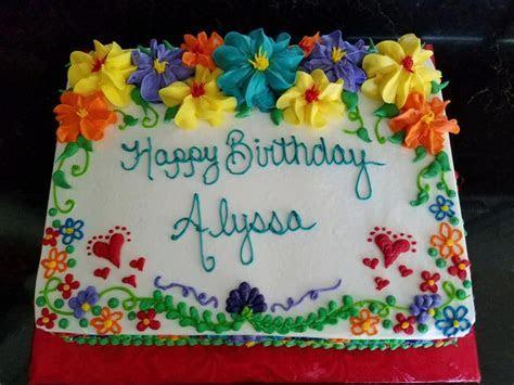 1/4 sheet floral Cinco de Mayo Birthday cake   My