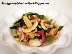Spinach Salad with Maple Dijon Vinaigrette