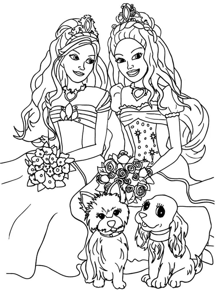 Barbie Para Colorear Pintar E Imprimir