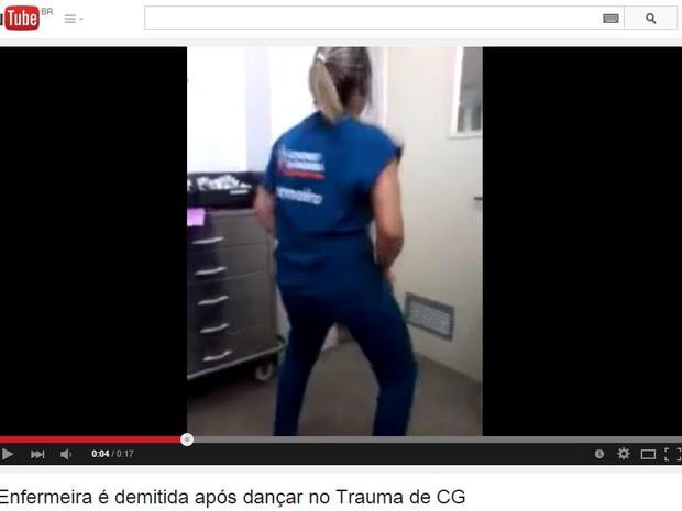Vídeo mostra a enfermeira dançando dentro do Hospital de Trauma (Foto: Reprodução)