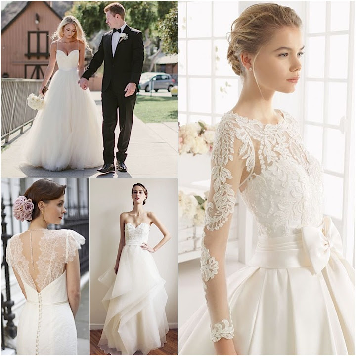 classic wedding dresses 1 collage