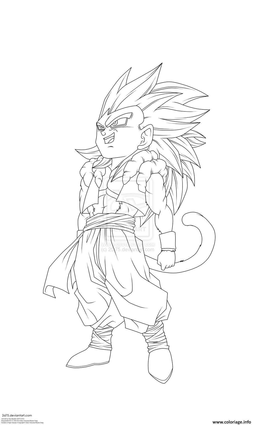 Coloriage Dragon Ball Z 179 dessin