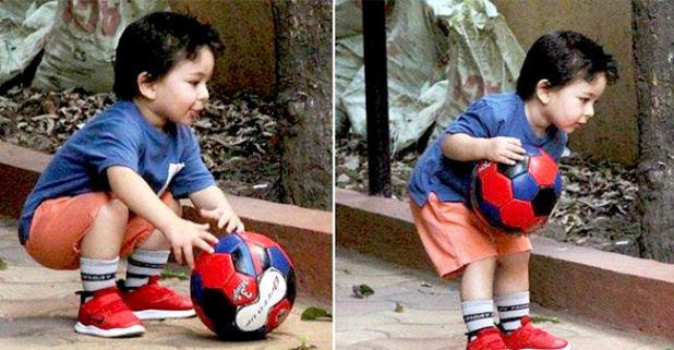 Taimur Ali Khan playing football is the best thing to watch on the internet