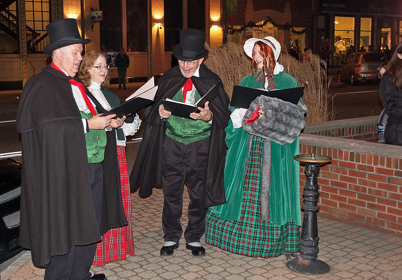 Carolers On 8th Avenue