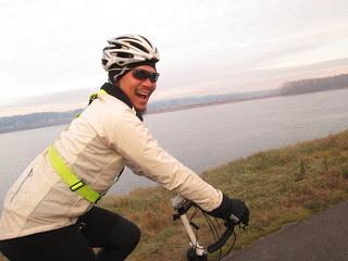 Patrick on the Marine Drive bike path