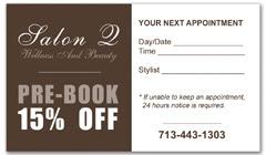 CPS-1000 - salon coupon card