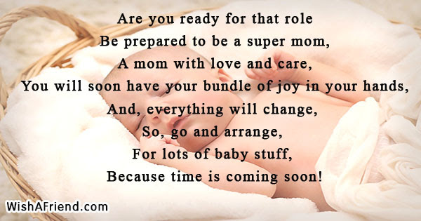 Are You Ready For That Role Baby Shower Poem
