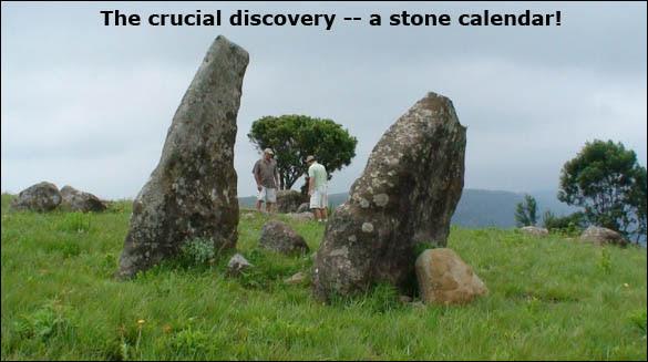 A descoberta crucial - um calendário de pedra