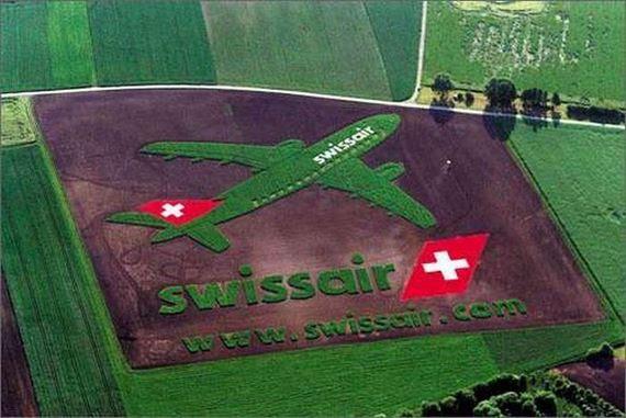 Perierga.gr - Διαφημίσεις σε χωράφια!