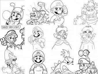 Mario Bros Da Colorare Disegni Gratis