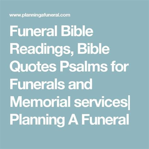 The 25  best Bible readings for funerals ideas on