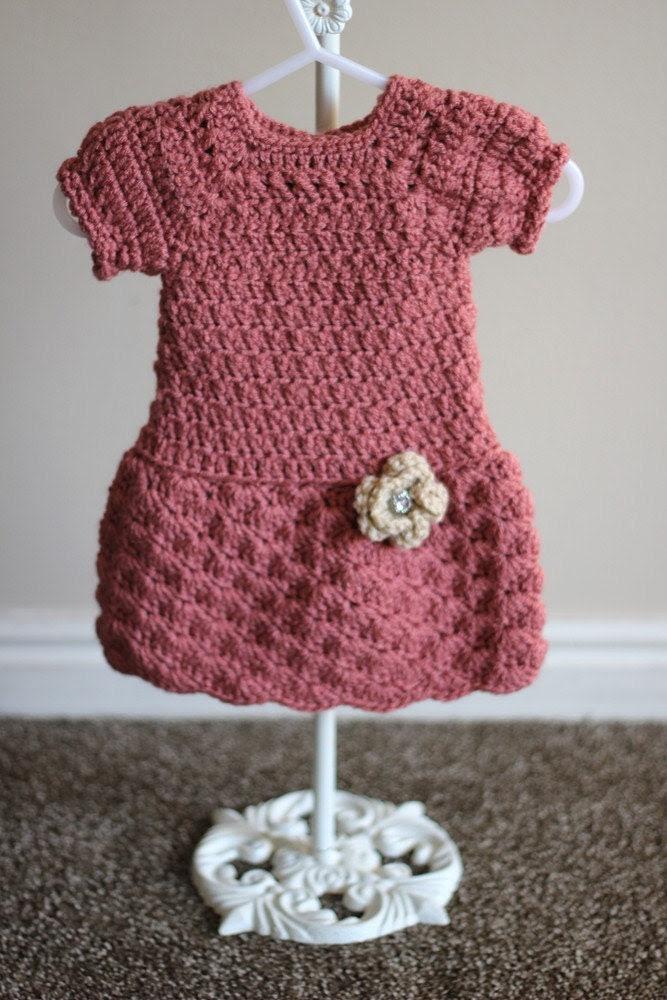 Adorable Amber Dress Crochet Pattern Sizes Newborn, 0-3, 3, 6-9 12 Months