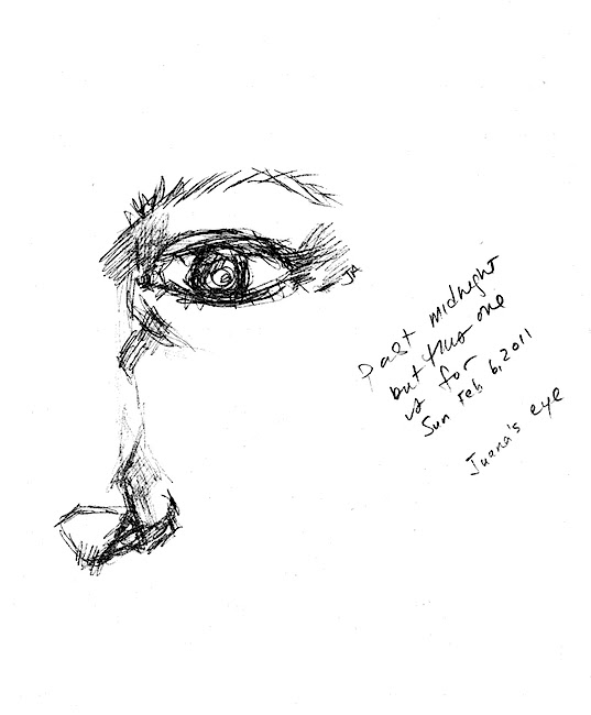 pencil sketch, Juana's Eye