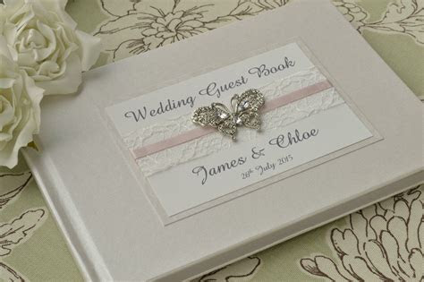 Personalised Wedding Guest Book ? Lace, Ribbon & Luxury