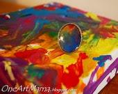 Custom Adjustable Ring: Your Child's Artwork