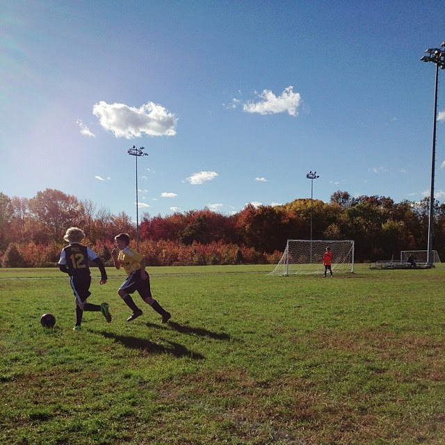 Beautiful afternoon to watch Micaiah play #soccer