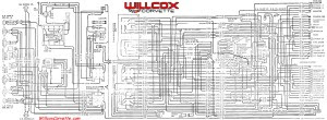 1969 Corvette Wiring Diagram Main And Engine Compartment Correct Tracer Schematic Willcox Corvette Inc