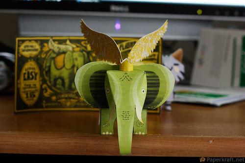 Winged Elephant Papercraft 03