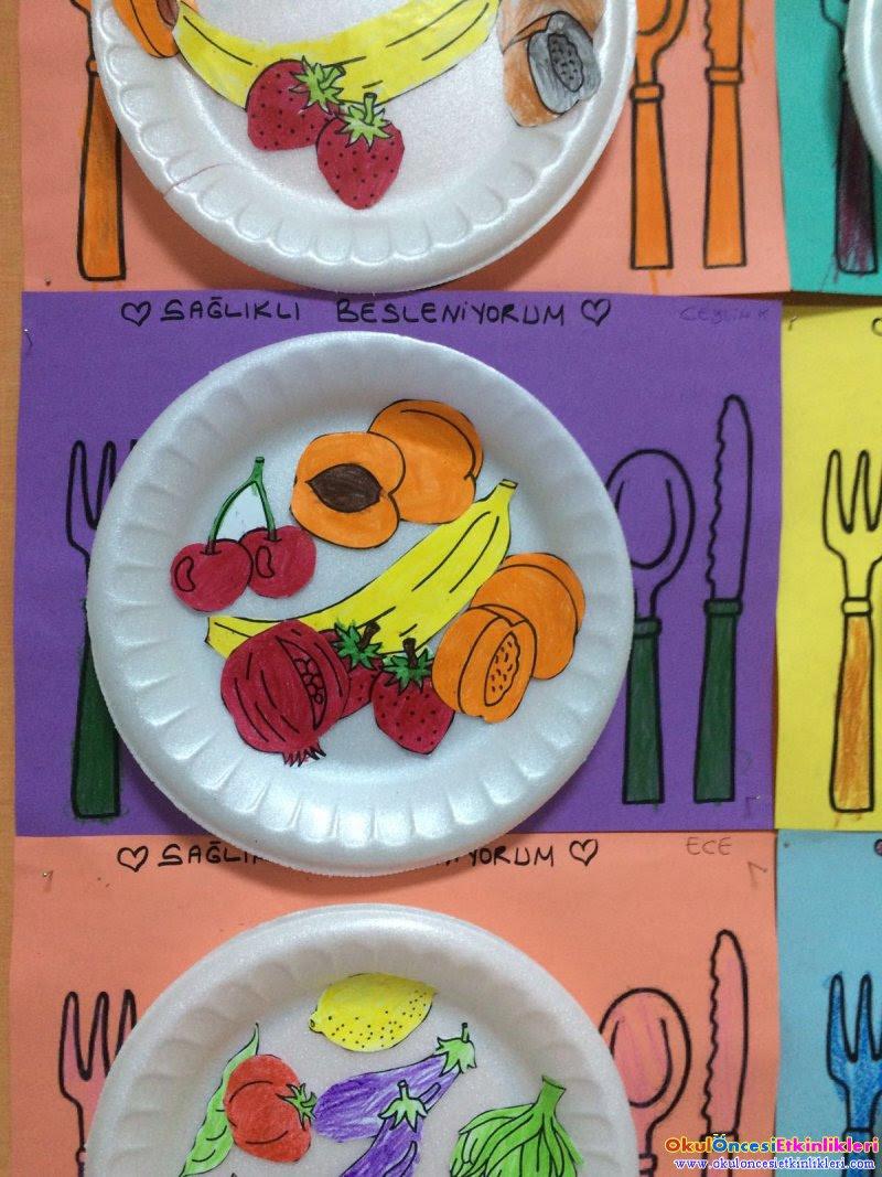 Sağlikli Beslenmek şart Okul öncesi Etkinlikleri Hayallerinizi