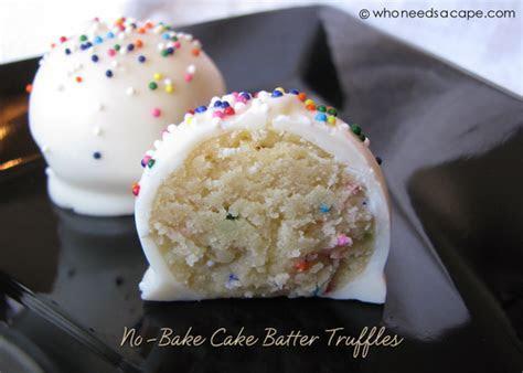 No Bake Cake Batter Cake Balls   TheBestDessertRecipes.com