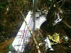 Avião foi localizado na noite de terça-feira (22) (Foto: Divulgação / Polícia Militar)