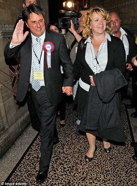 BNP Leader Nick Griffin with his wife Jackie