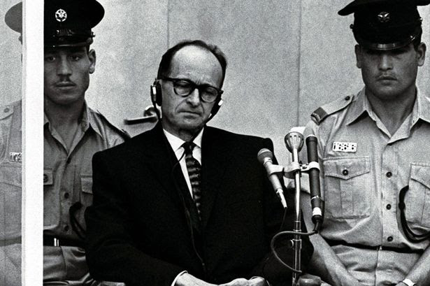 Adolf Eichmann, the Nazi S.S. colonel who headed the Gestapo's Jewish Section