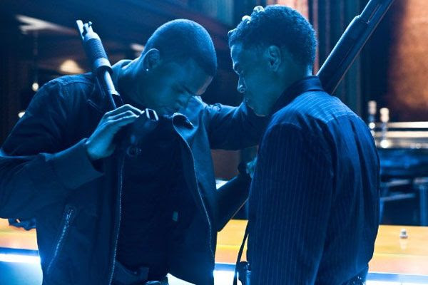 T.I. and Michael Ealy prepare to go out in a blaze of glory in TAKERS.