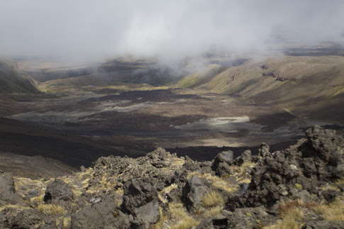 Mangatepopo Valley from South Crater, Tongariro National Park, New Zealand